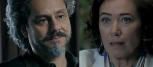 Zé e Marta em 'Império'. (Fotomontagem)