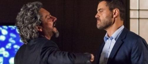 Zé e Maurílio em 'Império' (Reprodução/TV Globo)