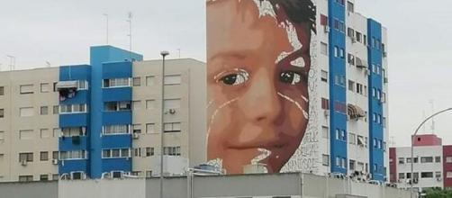 Lo street art di Giorgio, piccola vittima dell'inquinamento causato dall'ex Ilva.
