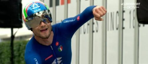 Filippo Ganna è Campione del Mondo a cronometro.