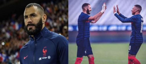 Benzema conserva la esperanza de tener a Mbappé en su equipo (Instagram @karimbenzema y @k.mbappe)