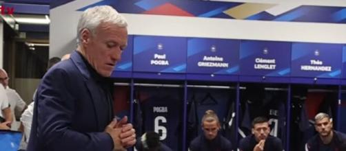 France - Bosnie : Le discours d'après match de Deschamps dans le vestiaire (capture FFF TV)