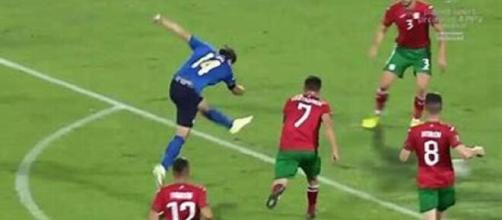 Le magnifique but de Chiesa contre la Bulgarie (Source : capture YouTube)