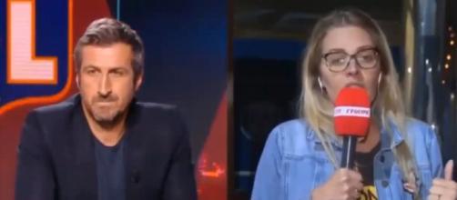 Le gros clash en direct entre Johan Micoud et Carine Galli (capture YouTube)
