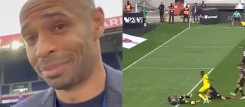 Thierry Henry a encore une fois fait le show sur Prime Video. (crédit Twitter)