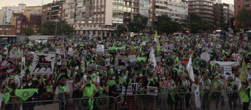 Una gran multitud se manifestó en Madrid para exigir el fin de la tauromaquia (@PartidoPACMA)