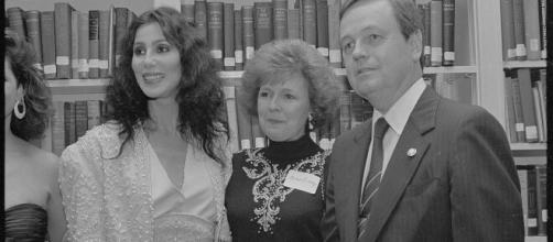 Bilbray with singer and actress Cher and his wife, Michaelene, in 1990 (Image source: Laura Patterson/Wikimedia Commons)