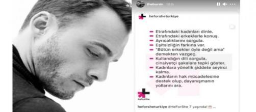 Kerem Bursin di Love is in the air sostiene la campagna HeForShe.