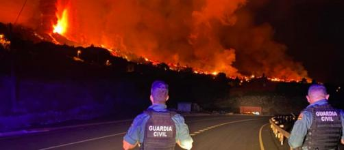 La lava del volcán de La Palma ha enterrado unas 200 casas (Twitter, guardiacivil)