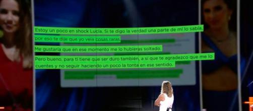 Sandra Barneda ha leído el mensaje en el plató del programa. (Twitter, telecincoes)