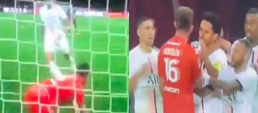 Mbappé a provoqué un début de bagarre face à Metz. (crédit Twitter)