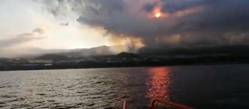 Erupción de La Palma, desde el agua (Salvamento Marítimo)