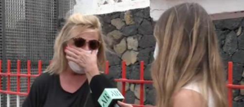Lydia Lozano ha llorado al ver el sufrimiento de los evacuados de La Palma (@elprogramadear)