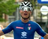 Filippo Baroncini vince l'oro ai Mondiali di ciclismo under 23.