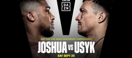 Boxe: Joshua vs Usyk a Londra, il 25 settembre in diretta su DAZN.