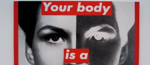 Barbara Kruger Untitled photo and silk screen [photo credit: rocor Flickr]