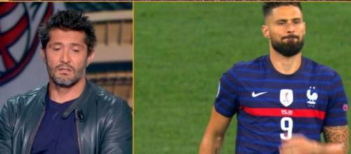 Lizarazu pense que Giroud a été sacrifié par Deschamps (capture YouTube et montage)