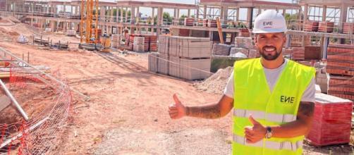 Ezequiel Garay está muy feliz con su proyecto inmobiliario (Instagram/@ezequielgaray24)