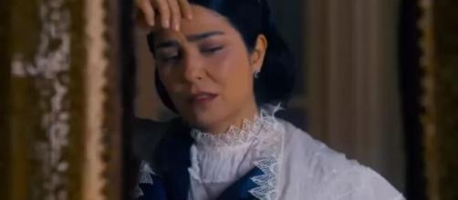Teresa em 'Nos Tempos do imperador' (Reprodução/TV Globo)