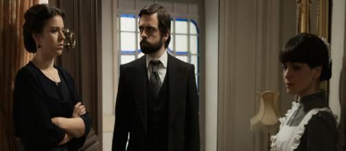 Una vita, trame Spagna: Salmeron fa credere a Velasco che suo marito sta per morire.