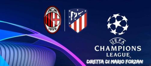 Champions League - Milan - Atletico Madrid alle ore 21