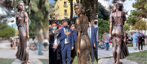 La escultura representa un personaje de una revuelta contra los Borbones en Nápoles. (Instagram @emanuelestifano)