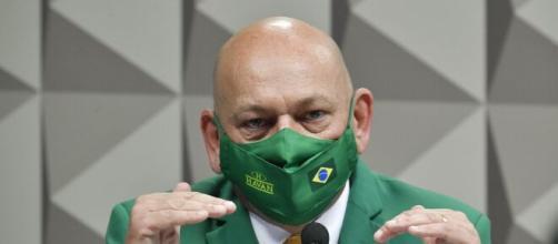Luciano Hang prestou depoimento nesta quarta-feira (29) ( Edilson Rodrigues/Agência Senado)
