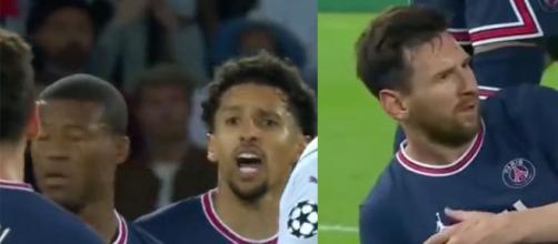 Marquinhos replace Messi contre Manchester City. (crédit Twitter)