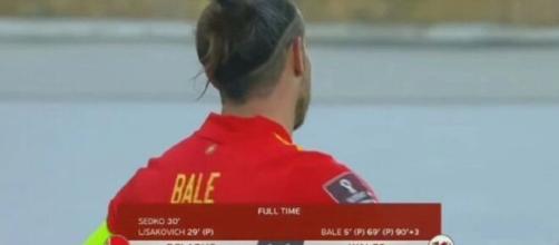 Le Gallois Gareth Bale a inscrit un triplé contre la Biélorussie (capture BeIn Sport)