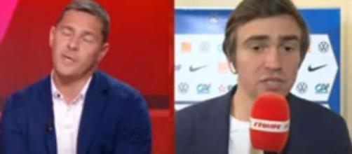 Ludovic Obraniak et Bertrand Latour se clashent au sujet de Didier Deschamps (capture L'Equipe du Soir)