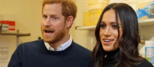 Prince Harry and Meghan Markle seen on a date at a restaurant in Montecito, California (Image source: Real Royal/YouTube)