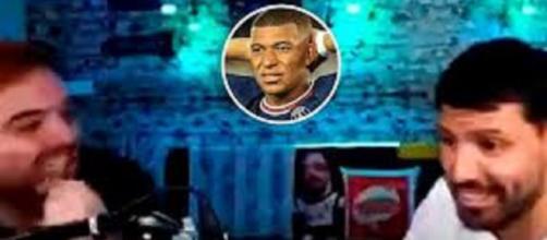 Sergio Agüero en a marre d'entendre parler d'Mbappé tous les jours (capture YouTube et montage photo)