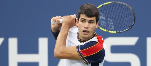 Carlos Alcaraz eliminó al alemán Peter Gojowczyk y clasificó a los cuartos de final del US Open (Twitter/@ATPtour_ES)