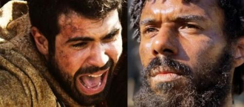 José e Abumani em 'Gênesis' (Reprodução/Record TV)