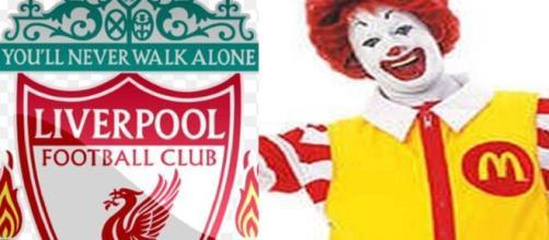 McDonald's se moque du nouveau maillot de Liverpool (capture YouTube et montage photo)