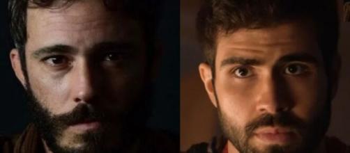Judá e José em 'Gênesis' (Fotomontagem/Reprodução/Record TV)