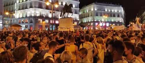 Manifestación del colectivo LGTBI ante las agresiones homófobas en España, Foto: (@IgualdadLGBT)