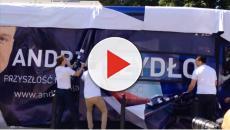 Wpadka na starcie kampanii wyborczej Beaty Szydło