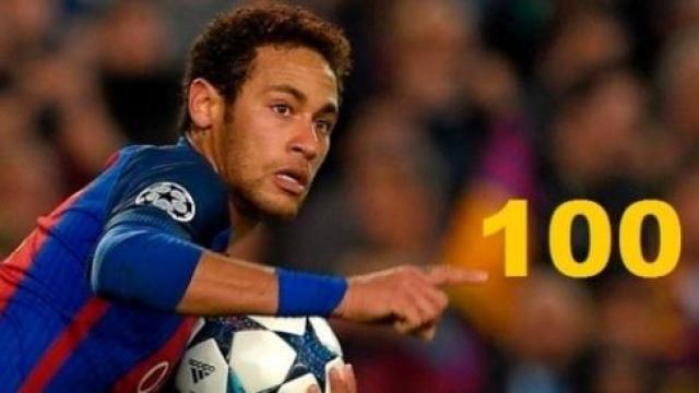 Video: Espanta Neymar al superar a Messi al lograr 100 goles con el Barça