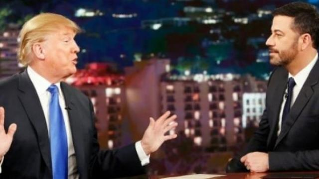 Study shows talk show hosts made 1,060 jokes about Trump in his first 100 days [VIDEO]