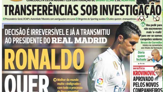 Cristiano Ronaldo decidido a dejar el Real Madrid