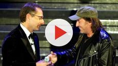 Video: Vasco in concerto con polemica: Paolo Bonolis commentatore contestato sui
