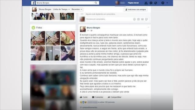 Garota do Acre transmite sua morte ao vivo pelo Instagram