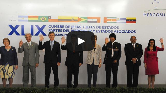 Mercosur suspende políticamente a Venezuela