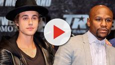 Monumental pelea entre Justin Bieber y Floyd Mayweather