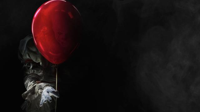 Stephen King has a red balloon in the window of his Bangor home