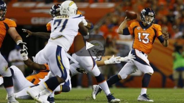Denver domina, pero se salva de 2 fumbles y un regreso tardío de los Chargers