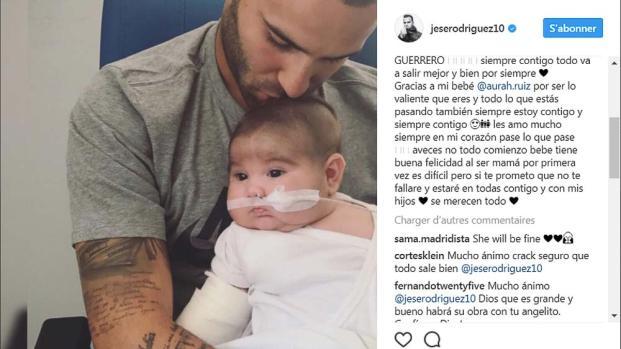 PSG : Jesé émeut en s'adressant à son bébé malade