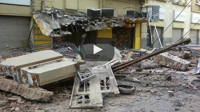 Los impactantes derrumbes de edificios