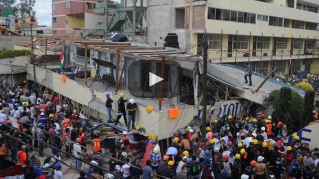 Derrumbe de colegio marca catástrofe mexicana